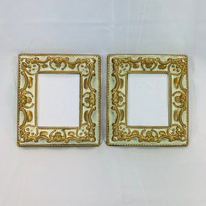 1960 Ornate Matching Picture Frames 3 5/8 X 2 3/4